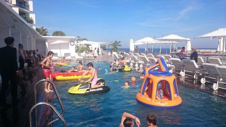 Anniversaire piscine Yacht Club
