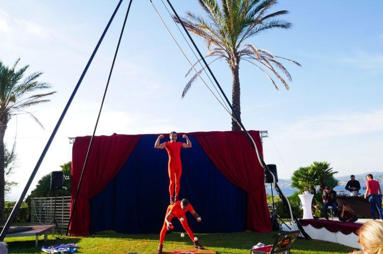 Anniversaire sur le thème du cirque à St Tropez