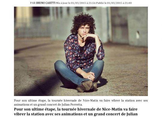 Ice Tour 2015 : Julian Perreta | Vendredi 6 Mars à Valberg