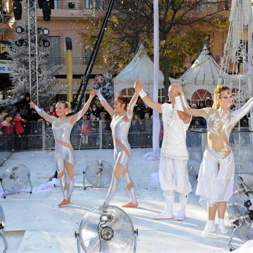 spectacle Symphonie Blanche à Cagnes sur Mer Noel 2015 - Eklabul