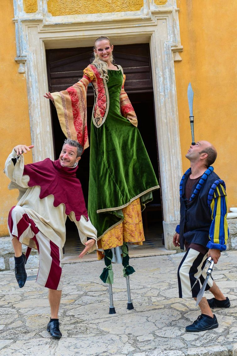 Medieval corporate event in Eze