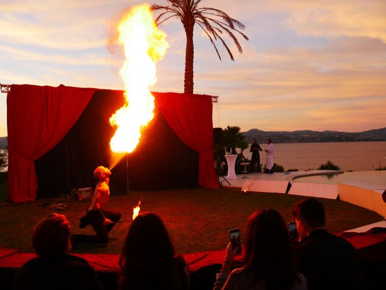 Circus themed birthday in St Tropez