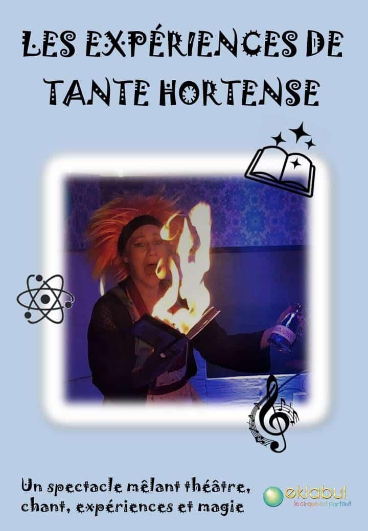 Les Expériences de Tante Hortense - Affiche Eklabul