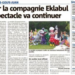 Pour la compagnie Eklabul le spectacle va continuer
